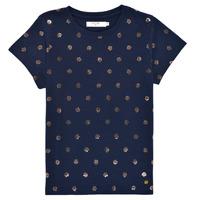 Υφασμάτινα Κορίτσι T-shirt με κοντά μανίκια Deeluxe MAYA Marine