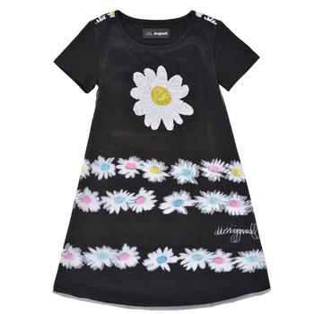 Υφασμάτινα Κορίτσι Κοντά Φορέματα Desigual 21SGVK28-2000 Black