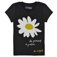 Υφασμάτινα Κορίτσι T-shirt με κοντά μανίκια Desigual 21SGTK28-2000 Black