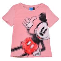 Υφασμάτινα Κορίτσι T-shirt με κοντά μανίκια Desigual 21SGTK43-3013 Ροζ