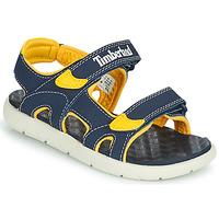 Παπούτσια Παιδί Σανδάλια / Πέδιλα Timberland PERKINS ROW 2-STRAP Μπλέ / Yellow