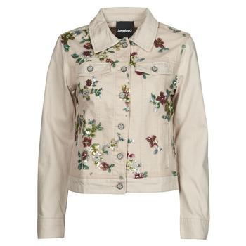 Υφασμάτινα Γυναίκα Τζιν Μπουφάν/Jacket  Desigual BRILLIGRIN Ροζ