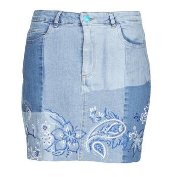 Υφασμάτινα Γυναίκα Φούστες Desigual BE BLUE Μπλέ