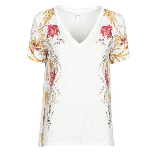 Υφασμάτινα Γυναίκα T-shirt με κοντά μανίκια Desigual PRAGA Άσπρο