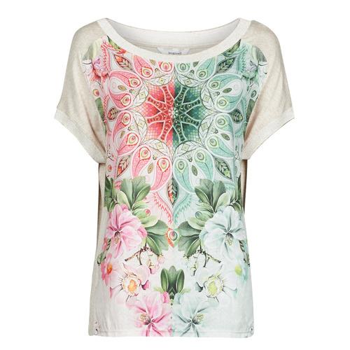 Υφασμάτινα Γυναίκα T-shirt με κοντά μανίκια Desigual COPENHAGUE Άσπρο
