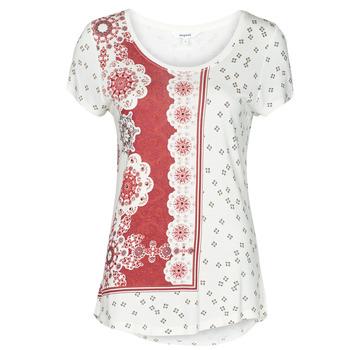 Υφασμάτινα Γυναίκα T-shirt με κοντά μανίκια Desigual ESTAMBUL Άσπρο