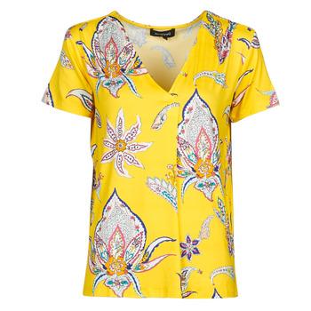 Υφασμάτινα Γυναίκα T-shirt με κοντά μανίκια Desigual LEMARK Yellow
