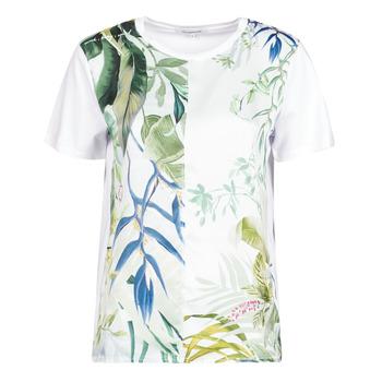 Υφασμάτινα Γυναίκα T-shirt με κοντά μανίκια Desigual BUDAPEST Άσπρο