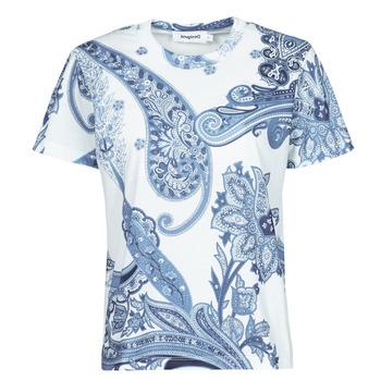 Υφασμάτινα Γυναίκα T-shirt με κοντά μανίκια Desigual POPASLEY Μπλέ