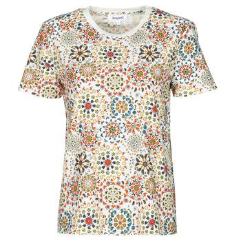 Υφασμάτινα Γυναίκα T-shirt με κοντά μανίκια Desigual LYON Άσπρο