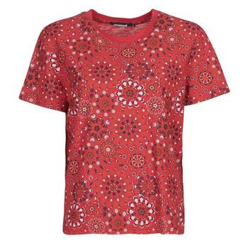 Υφασμάτινα Γυναίκα T-shirt με κοντά μανίκια Desigual LYON Red