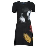 Υφασμάτινα Γυναίκα Κοντά Φορέματα Desigual MICKEY Black