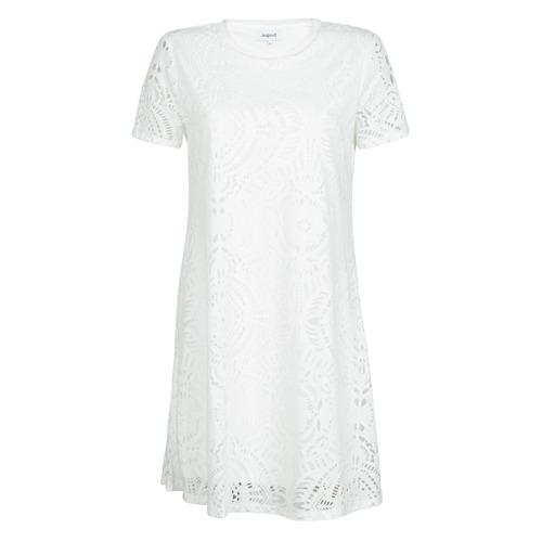 Υφασμάτινα Γυναίκα Κοντά Φορέματα Desigual NILO Άσπρο