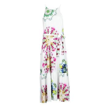 Υφασμάτινα Γυναίκα Μακριά Φορέματα Desigual SENA Άσπρο