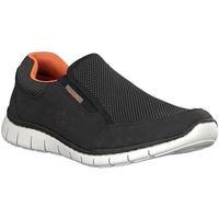 Παπούτσια Άνδρας Χαμηλά Sneakers Rieker Schwarz Black Flats Black