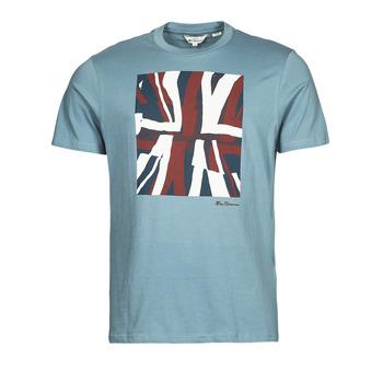 Υφασμάτινα Άνδρας T-shirt με κοντά μανίκια Ben Sherman HALF TONE FLEG TEE Μπλέ