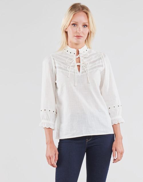 Υφασμάτινα Γυναίκα Μπλούζες Cream NITTY BLOUSE Beige