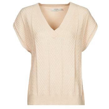 Υφασμάτινα Γυναίκα Μπλούζες Cream MAHIMA SLEEVELESS Beige