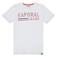 Υφασμάτινα Αγόρι T-shirt με κοντά μανίκια Kaporal EZIO Άσπρο