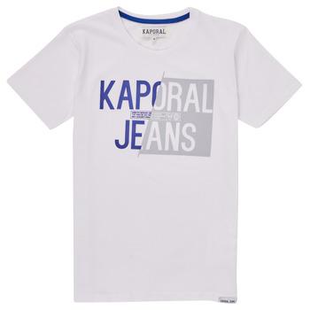 Υφασμάτινα Αγόρι T-shirt με κοντά μανίκια Kaporal MAYO Άσπρο