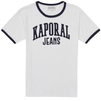 Υφασμάτινα Αγόρι T-shirt με κοντά μανίκια Kaporal METRO Άσπρο
