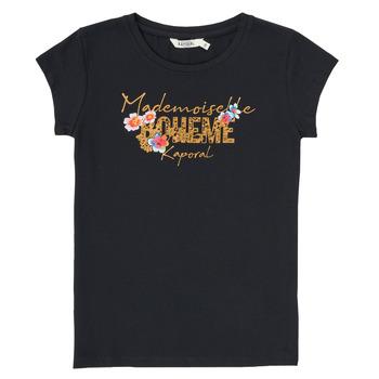 Υφασμάτινα Αγόρι T-shirt με κοντά μανίκια Kaporal ELISA Black