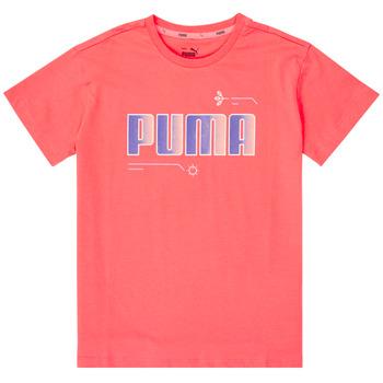 Υφασμάτινα Κορίτσι T-shirt με κοντά μανίκια Puma ALPHA TEE Ροζ