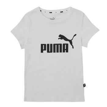 Υφασμάτινα Κορίτσι T-shirt με κοντά μανίκια Puma ESS TEE Άσπρο