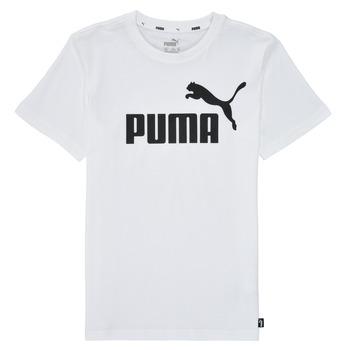 Υφασμάτινα Αγόρι T-shirt με κοντά μανίκια Puma ESSENTIAL LOGO TEE Άσπρο