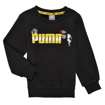 Υφασμάτινα Αγόρι Φούτερ Puma SNOOPY PEANUTS CREW Black