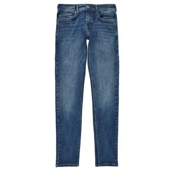 Υφασμάτινα Αγόρι Skinny jeans Pepe jeans FINLY Μπλέ