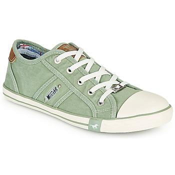 Παπούτσια Γυναίκα Χαμηλά Sneakers Mustang NATHALIA Green /  clair