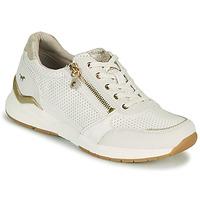 Παπούτσια Γυναίκα Χαμηλά Sneakers Mustang ANINTA Άσπρο / Gold
