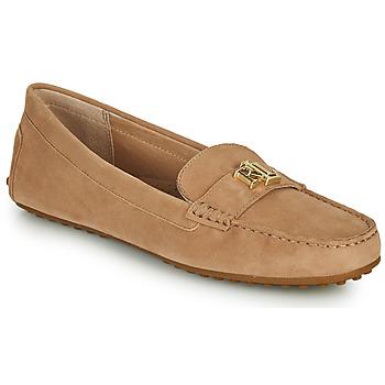 Παπούτσια Γυναίκα Μοκασσίνια Lauren Ralph Lauren BARNSBURY FLATS CASUAL Beige