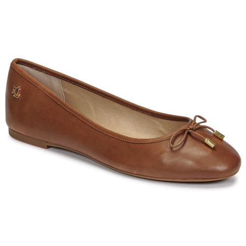 Παπούτσια Γυναίκα Μπαλαρίνες Lauren Ralph Lauren JAYNA Cognac