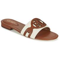 Παπούτσια Γυναίκα Τσόκαρα Lauren Ralph Lauren ALEGRA Cognac / Beige