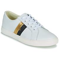 Παπούτσια Γυναίκα Χαμηλά Sneakers Lauren Ralph Lauren JANSON II Άσπρο / Gold