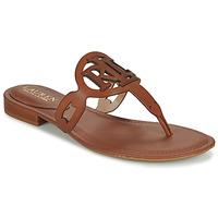 Παπούτσια Γυναίκα Σανδάλια / Πέδιλα Lauren Ralph Lauren AUDRIE Cognac