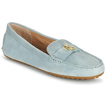 Παπούτσια Γυναίκα Μοκασσίνια Lauren Ralph Lauren BARNSBURY FLATS CASUAL Μπλέ / Σιελ
