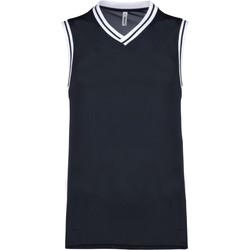 Υφασμάτινα Αμάνικα / T-shirts χωρίς μανίκια Proact Débardeur  university bleu marine/blanc