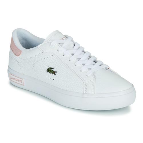 Παπούτσια Γυναίκα Χαμηλά Sneakers Lacoste POWERCOURT 0721 2 SFA Άσπρο / Ροζ