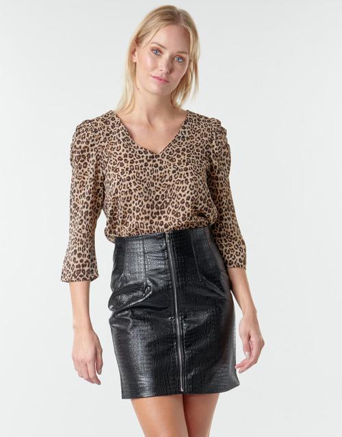 Υφασμάτινα Γυναίκα Μπλούζες Moony Mood NOULIETTE Beige / Brown