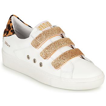 Παπούτσια Γυναίκα Χαμηλά Sneakers Semerdjian GARBIS Άσπρο / Gold