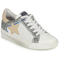 Παπούτσια Γυναίκα Χαμηλά Sneakers Semerdjian CARLA Άσπρο / Silver / Beige