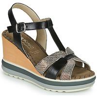 Παπούτσια Γυναίκα Σανδάλια / Πέδιλα Dorking TOTEM Black / Bronze
