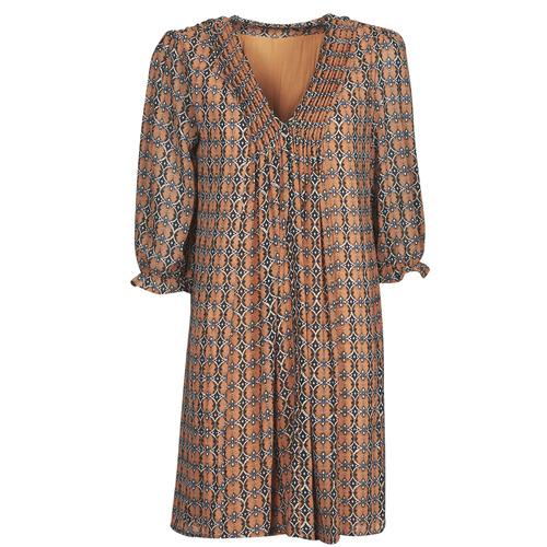 Υφασμάτινα Γυναίκα Κοντά Φορέματα Freeman T.Porter JUNA SAMBA Orange