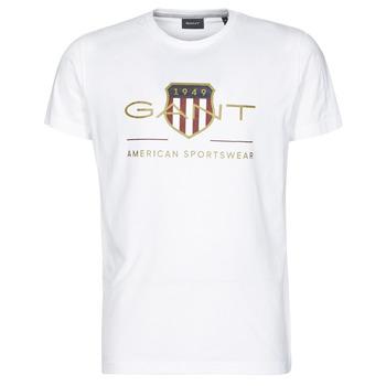 Υφασμάτινα Άνδρας T-shirt με κοντά μανίκια Gant ARCHIVE SHIELD Άσπρο