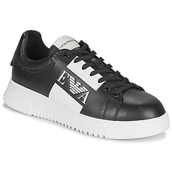 Παπούτσια Άνδρας Χαμηλά Sneakers Emporio Armani MALTA Black / Άσπρο