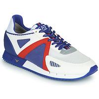 Παπούτσια Άνδρας Χαμηλά Sneakers Emporio Armani EA7 SAPONI Άσπρο / Μπλέ / Red
