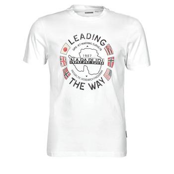 Υφασμάτινα Άνδρας T-shirt με κοντά μανίκια Napapijri SALYA Άσπρο